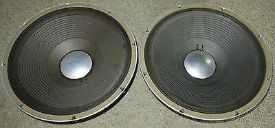 Pair Vintage 1980's JBL 15 inch Speaker E140-8 8 ohm PA Cabinet Driver Reconed