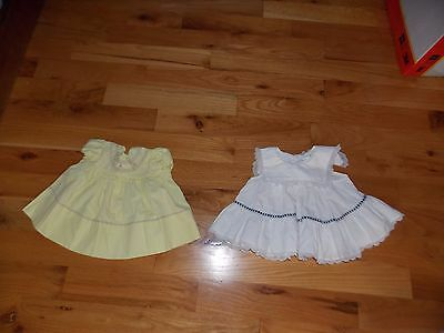 Vintage Baby Girl Dresses 18 Months One is Handmade