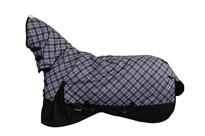CHONMA 4'9'' 600D 250G Winter Waterproof BreathableTurnout Horse Rug Combo-A44m