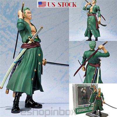 "16cm/6.3"" ONE PIECE POP RORONOA ZORO PVC Action Figure Figurine Toy In BOX GIFT"