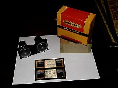 OLD VINTAGE RADEX STEREO VIEWER with Box & 2 Vintage Slides !!WOW RARE!!