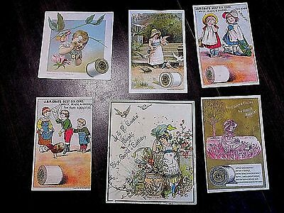 1800S Trade Card Group Lot Coats Victorian Advertising Sewing Antique Litho Rare