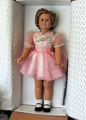 "HTF 33"" ""SHIRLEY TEMPLE PLAYPAL""  by Danbury Mint, MIB w/Stand"