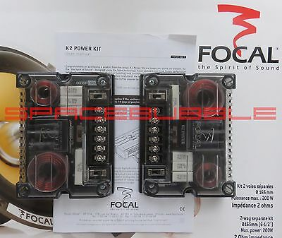 NEW Pair FOCAL K2 POWER 165KRX2 Crossover XO 2 way Hi End SQ Audiophile 165 KRX2