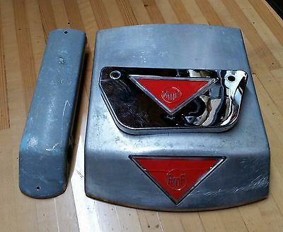 Vintage AMF Bowling Foul Light Ends and Chrome Bench End Triangle 1960's