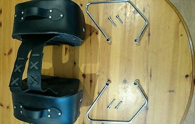 Triumph Bonneville America leather saddlebags Type B Part Number A9520020