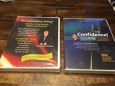 MJ Durkin Recommendation Selling & The Confidence Course Brand New Sealed.!!
