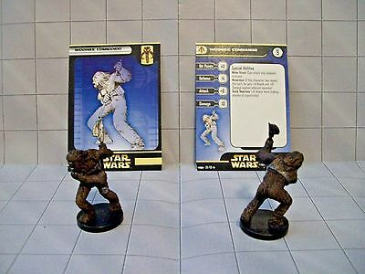 WotC Star Wars Miniatures Wookiee Commando, Clone Strike 59/60,Frng,Unc,Lot of 2