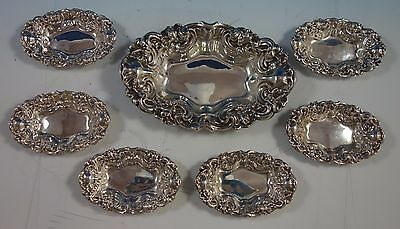 Hibiscus by Woodside Sterling Silver Nut Bowl Set 7pc (#1609)