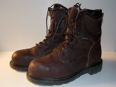 Red Wings USA 2414 Brown Leather Goretex Laceup Steel Toe Engineer Boots