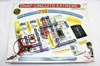 Snap Circuits Extreme SC-750 Discovery Kit + Manuals & Computer Interface Disk