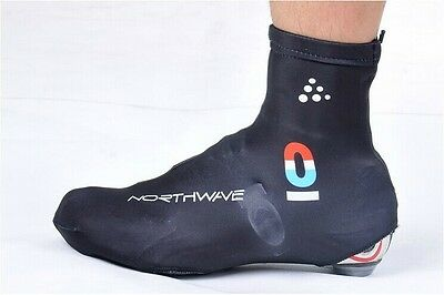 Black New Breathable Windproof Bicycle Bike Cycling Shoe Covers Overshoes Size L