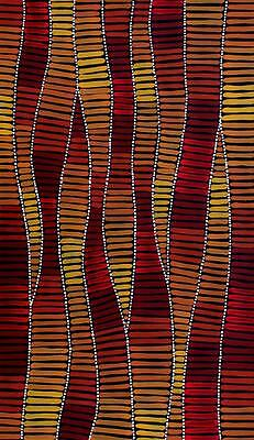 Aboriginal Art Painting by Adam Reid 64cm x 109cm
