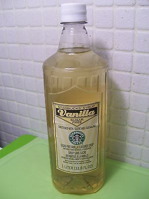 Starbucks Sugar Free Vanilla Syrup 33.8 Fl oz 1 Liter No Pump Free Ship US 48