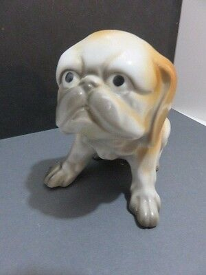 Vintage Pekingese Dog Porcelain Figurine, made in Japan, hand painted
