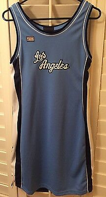 Large Hardwood Classics Minneapolis Blue Los Angeles Lakers Women's Jersey-Dress