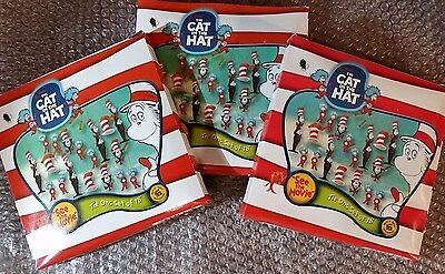 THE CAT IN THE HAT - Dr Seuss - 3 Pack of 18 Miniature Ornaments DECORATIONS