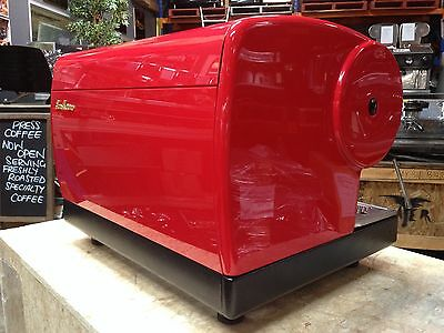San Marino Lisa 2 Group Cheap Commercial Espresso Coffee Machine Red