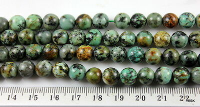 GR001 - Natural Quality African Turquoise Gemstone Beads - 8mm x 1/2 strand  20g