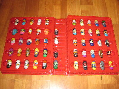 Mighty Beanz Series 2 - Red Case plus Lot of 54 Beans  -many may not be Series 2