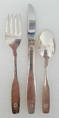 Airlines Air Canada Fork Knife Spoon Set Vintage 1980s Flatware SS Silverplate