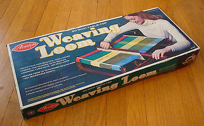 "Vintage AVALON 20"" Table Top Weaving Loom 8190 Original Box Instruction Booklet"