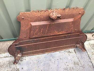 VINTAGE Cast Iron Wood Fire Stove base. Claw foot