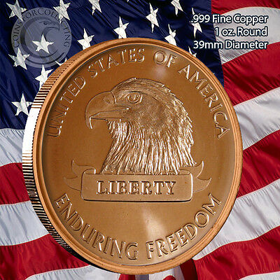 American Eagle Enduring Freedom 1 oz .999 Copper Round