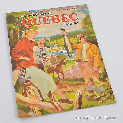 c1952 VIEWS OF QUEBEC CANADA Tourist Booklet Many Photographs