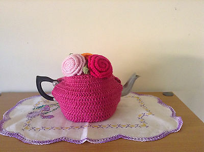 1960/70's  TEAPOT with  KNITTED COSY