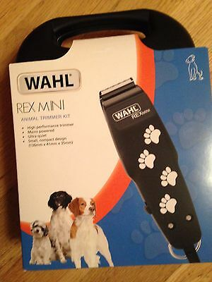 Wahl Rex Mini Animal/pet/dog  Trimmer Kit - In Hard Case - New