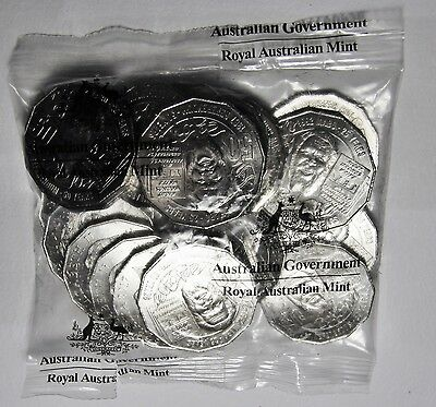 2017 Fifty Cent Official 20 Coin Mint Bag - Mabo Pride And Passion 50 Cent x 20