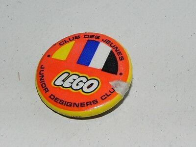 "Vintage Canada LEGO Junior Engineers Club Promo Pin Back 1.25"" Button Samsonite"