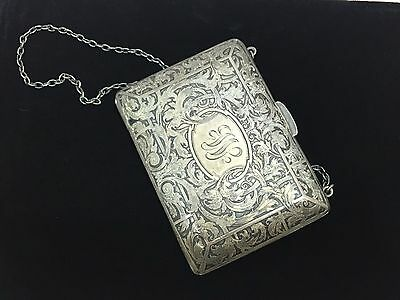 sterling silver antique purse dated DEC 25TH 1912  115 grams