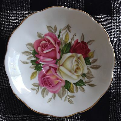 Queen Anne Big Roses Vintage English China Saucer