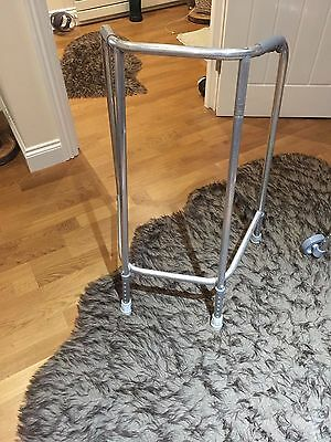 Metal Mobility Adjustable Walking/Zimmer Frame With  Stoppers  - bargin