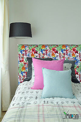 *SALE* Upholstered Bedhead, Single Size,Bright Colours,Parrot,Tropical Headboard