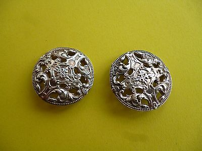 Two Antique/vintage  Silver Buttons