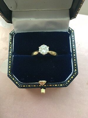 Amazing Quality Half Carat .5 Diamond Solitaire Engagement Ring 18ct Gold Size K