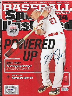 Mike Trout Signed 2014 Powered Up Sports Illustrated Baseball Magazine PSA/MLB