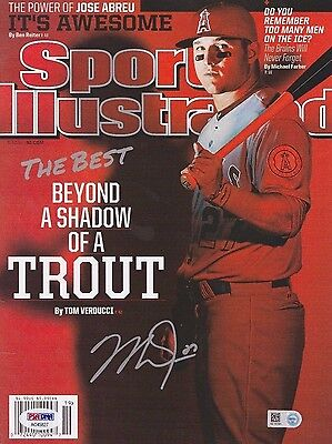 Mike Trout Signed 2014 Sports Illustrated Baseball Magazine *Angels PSA/MLB