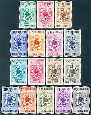 Venezuela 1953, Arms of Amazonas and Orchid Complete Set, SC 590/6-C500/8, NG