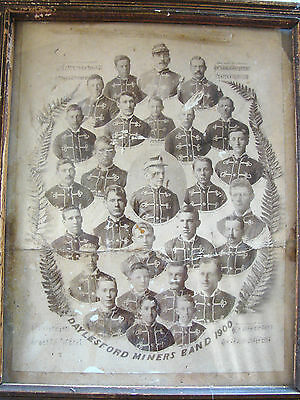 Daylesford Miners Band 1900  Picture In Vintage Frame