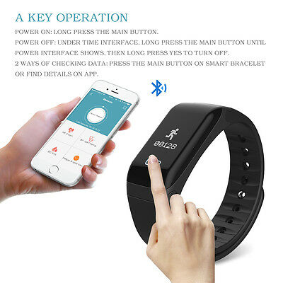 Smart Bracelet Wristband Watch Heart Rate Fitness Tracker Moniteur Touchpad ETFR