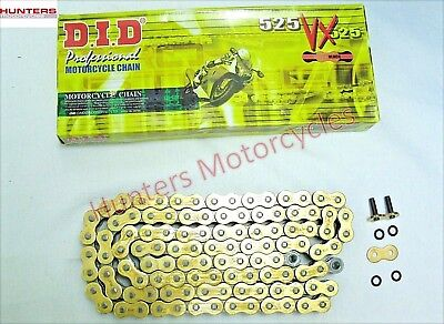 BMW S1000RR  DID Heavy Duty Gold X-Ring Drive Chain 525VXGB118