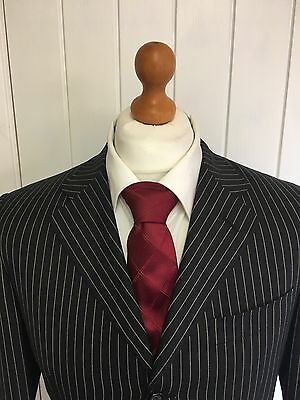 "Mens LUXURY CANALI ""ITALIAN"" WOOL SUIT In CHARCOAL PINSTRIPE 38R *EX-CON*"