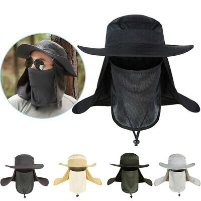 Outdoor Unisex UV Protection Sport Face Neck Flap Sun Cap Fishing Hiking Hat New