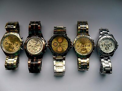 SALE Job Lot of  FIVE Very Smart ROSRA Stainless Steel NEW Watches