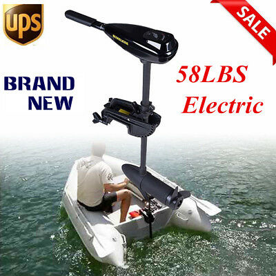 58LBS Electric Trolling Motor Inflatable Fishing Boat Marine Outboard Drive