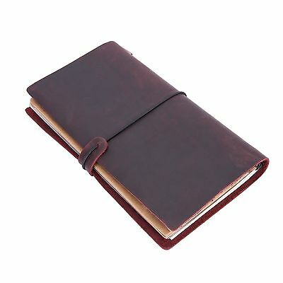 Leather Retro Travel Journal Hand Notebook Sketchbook Genuine Leather Brown